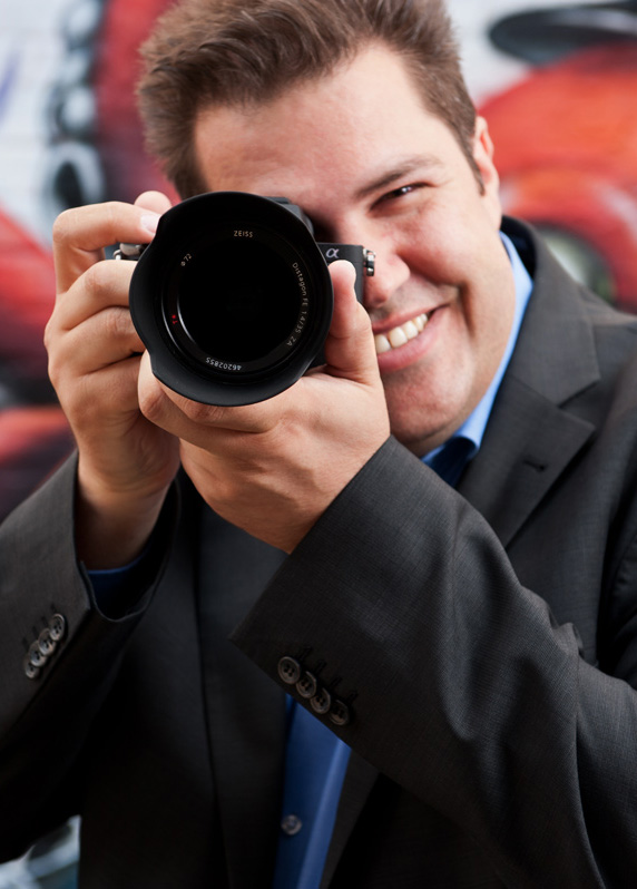Christian Laxander Fototrainer mit Sony Kamera