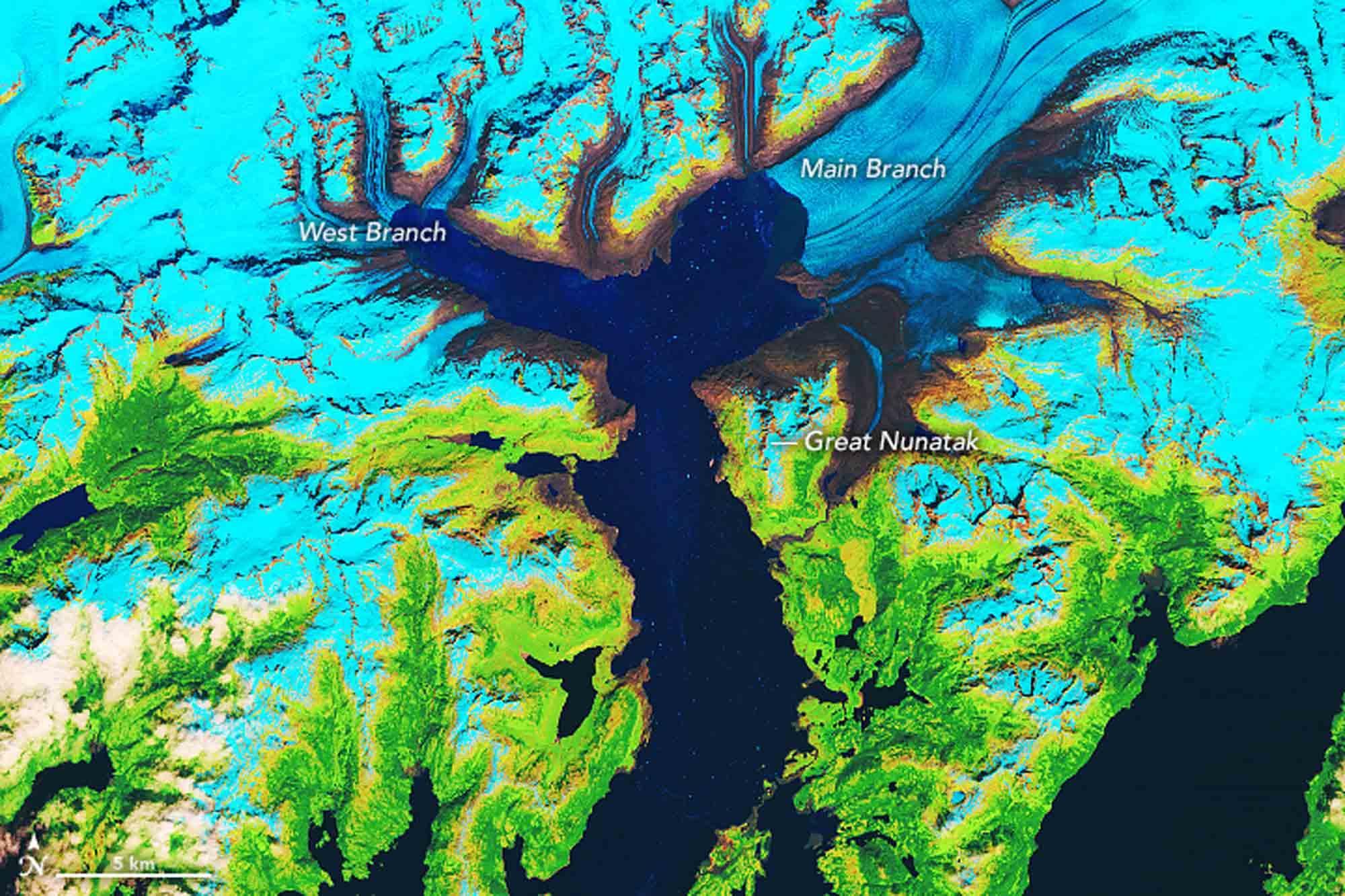 Columbien Gletscher 2019 / Earth Observatory NASA
