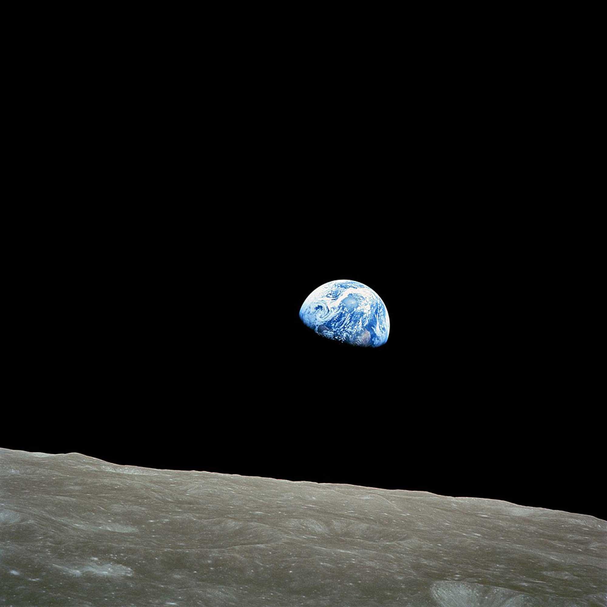 Erstes Bild der Erde