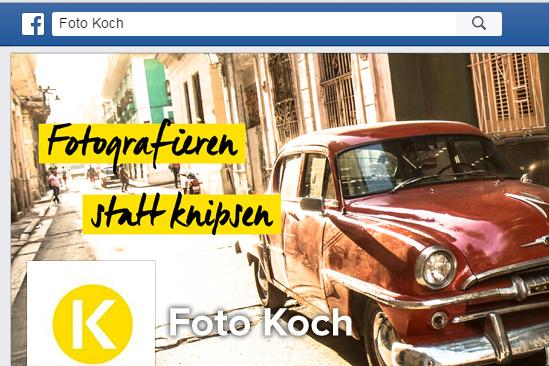 Foto Koch bei Facebook