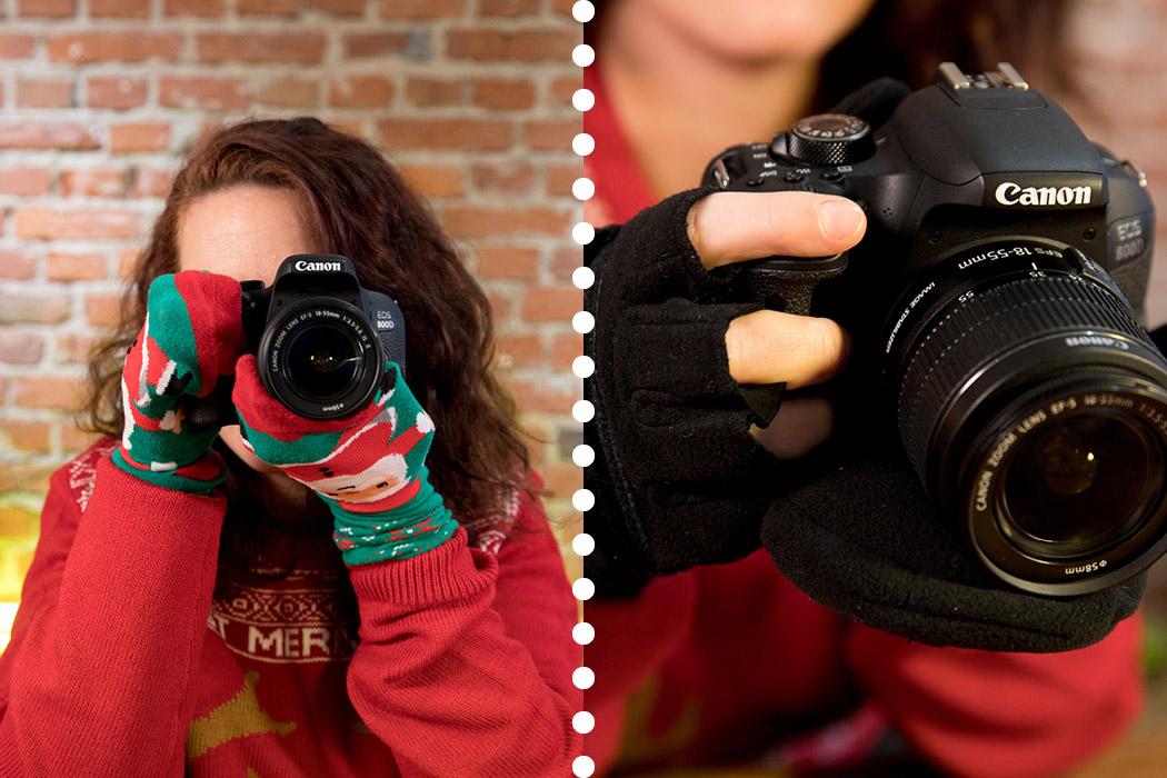 Geschenk Fotohandschuhe - besser als Socken