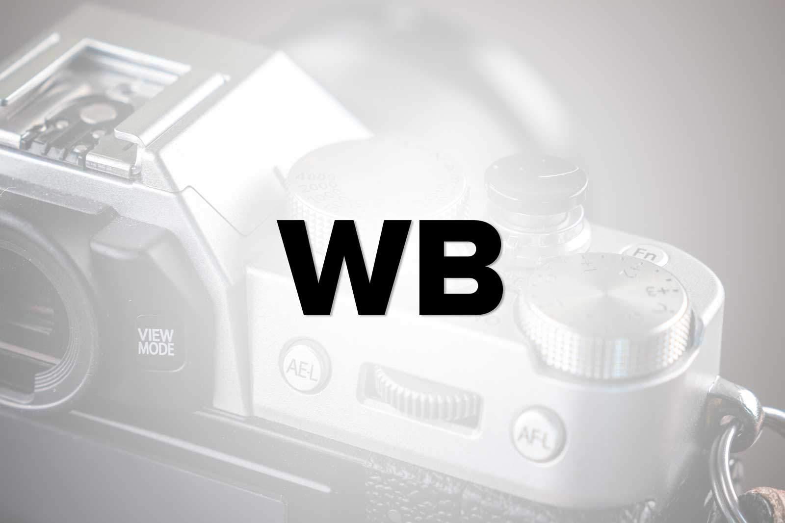 Kamera Fujifilm Weißabgleich