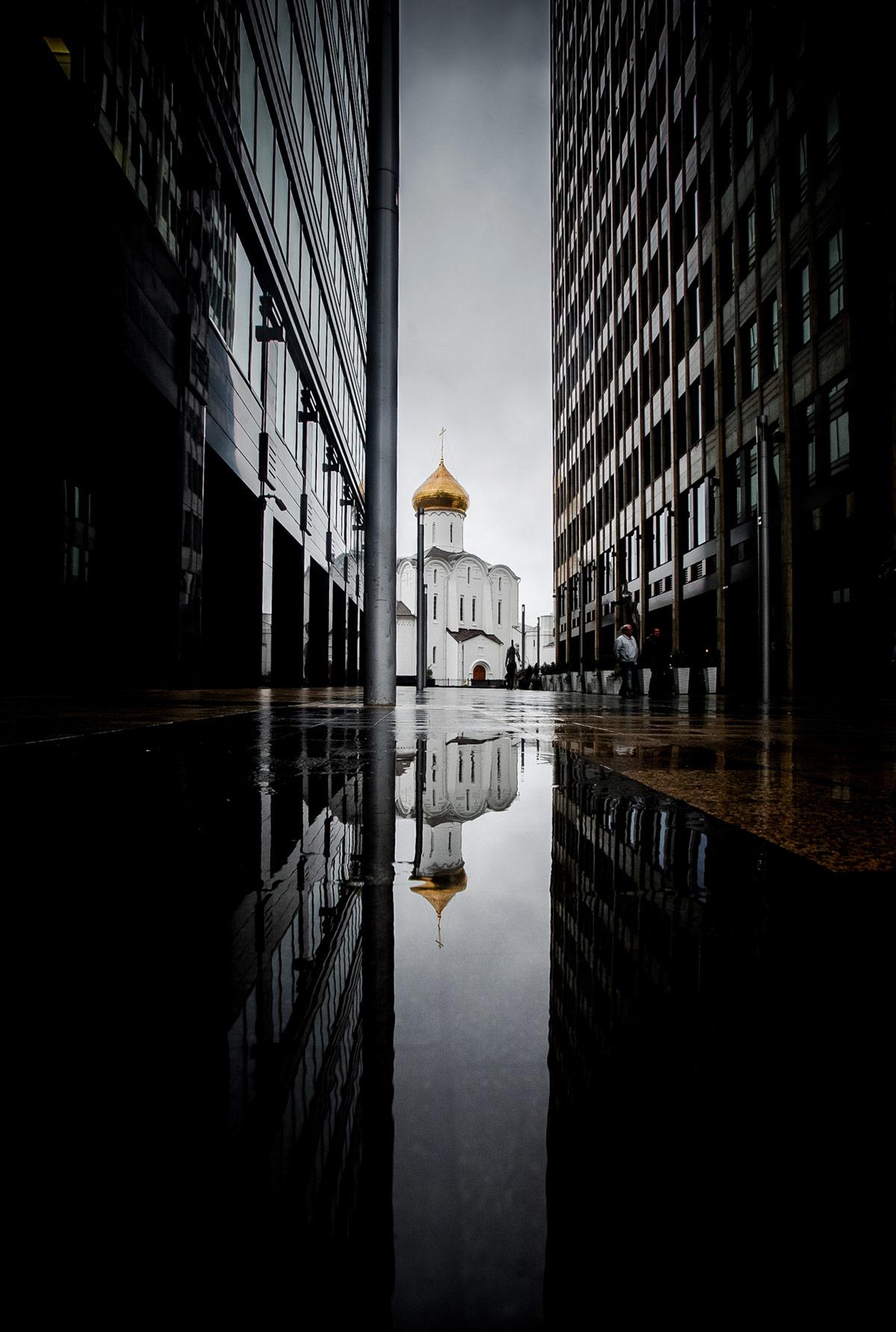 Rusky Tempel mit Spiegelung