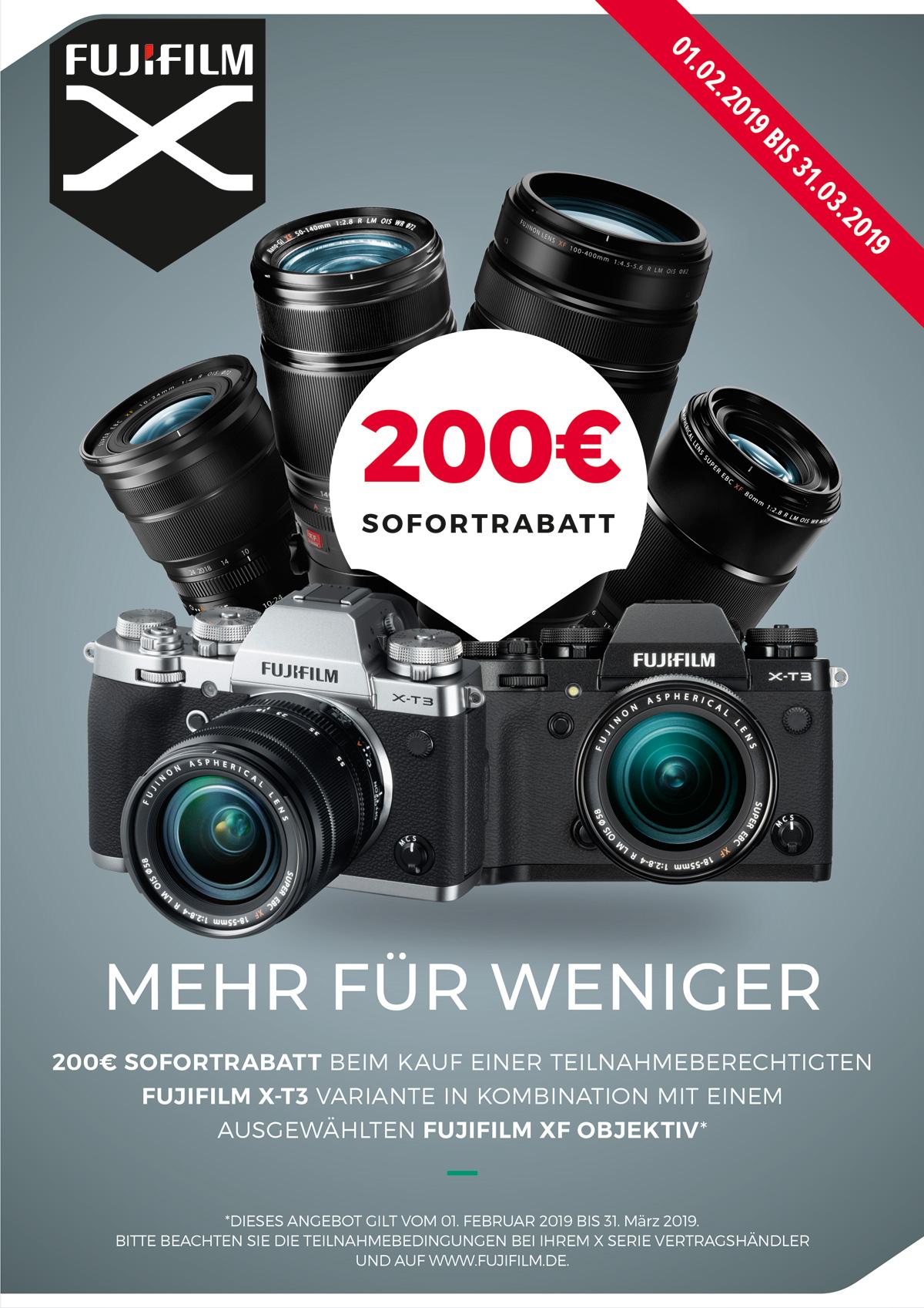 Fujifilm X-T3 Sets Sofortrabatt