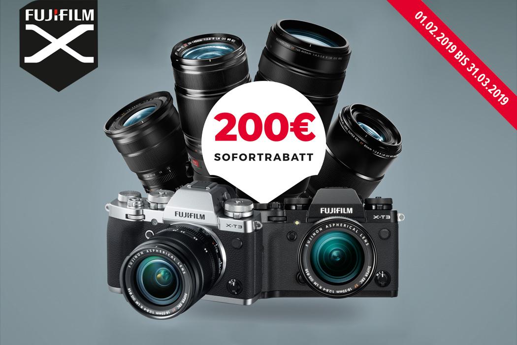 Fujifilm X-T3 + XF Objektiv Sofortrabatt