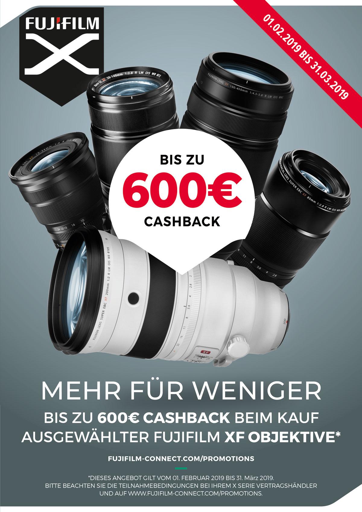 Fujifilm Objektiv Cashback
