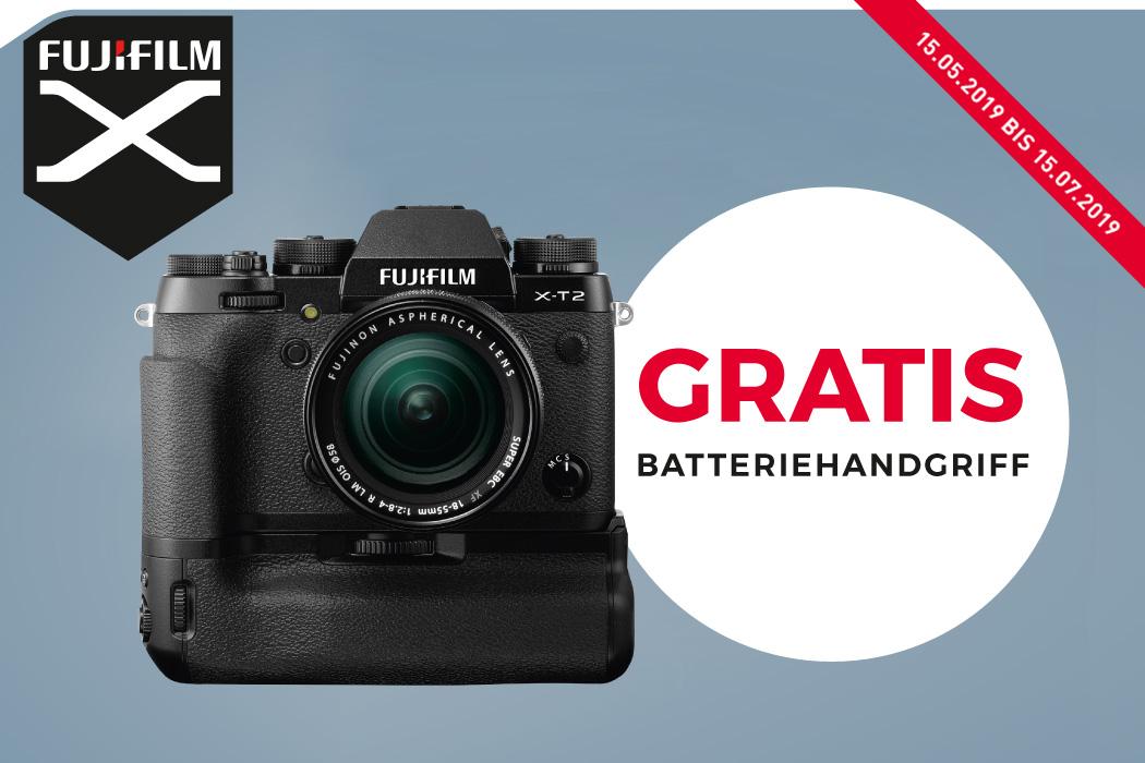 Fujifilm X-T2 Batteriehandgriff Aktion