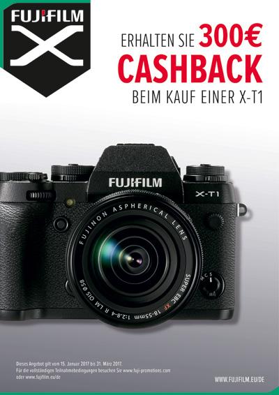 Fujifilm X-T1 Cashback Aktion