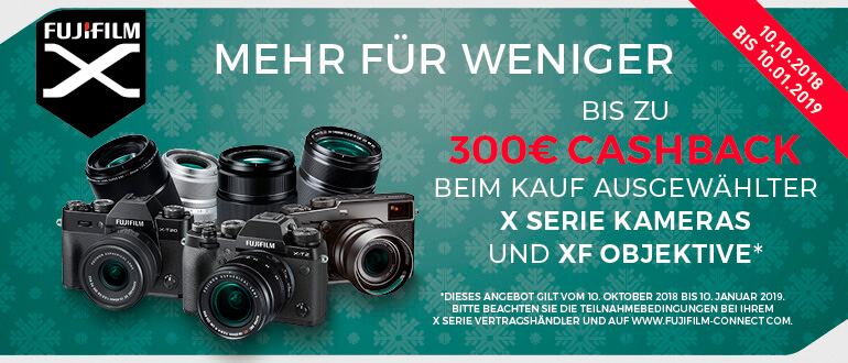Aktion Fujifilm Winter Cashback