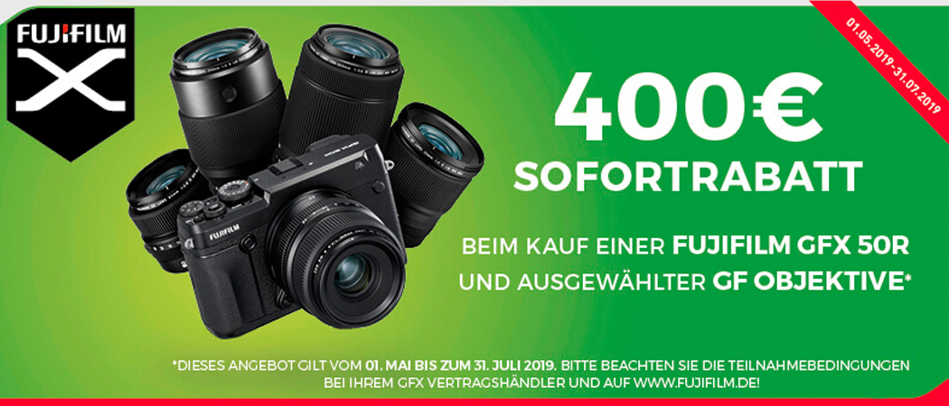 Fujifilm GFX + GF Sofortrabatt