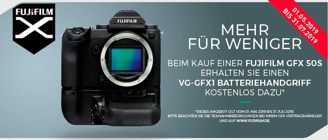 Fujifilm GFX 50S Batteriehandgriff Aktion