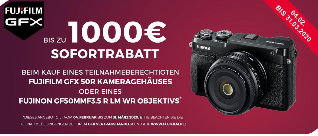 Fujifilm GFX 50R Mittelformat Sofortrabatt Aktion
