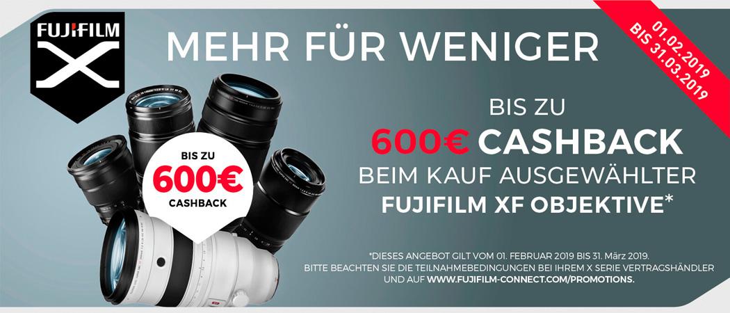 Fujifilm Objektiv Cashback Aktion