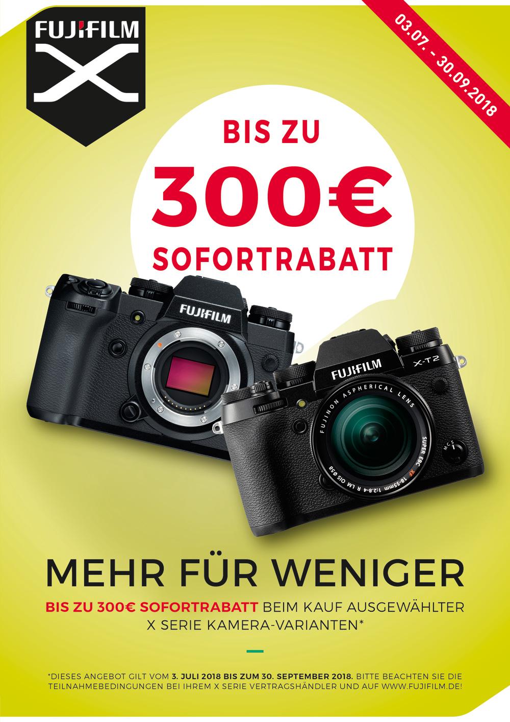 Fujifilm X-H1 & X-T2 Sommer Sofortrabatt