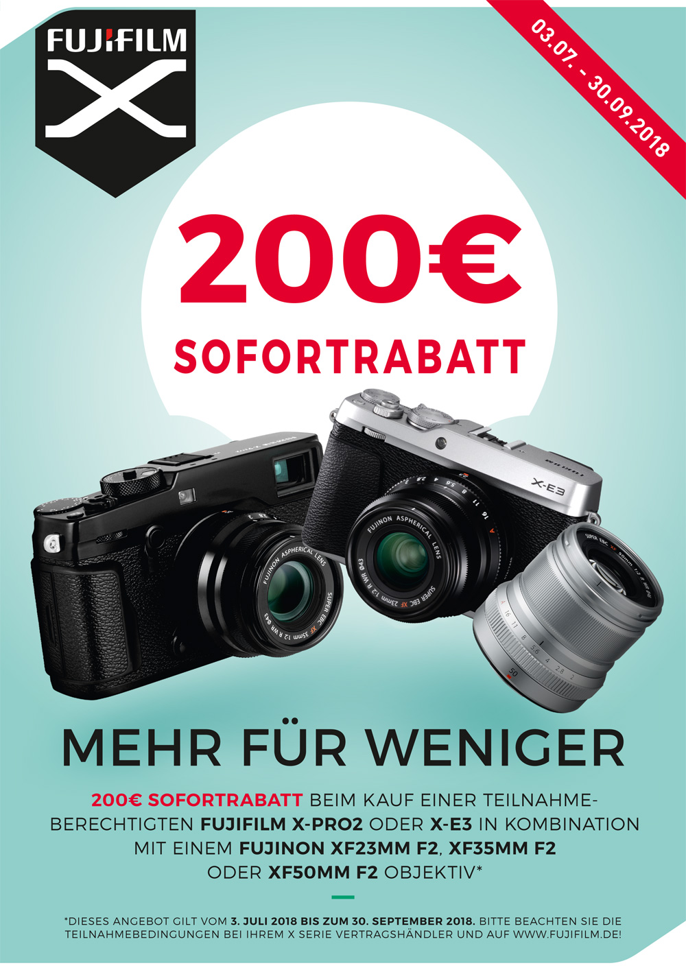 Fujifilm X-Pro2 & X-E3 Sommer Aktion