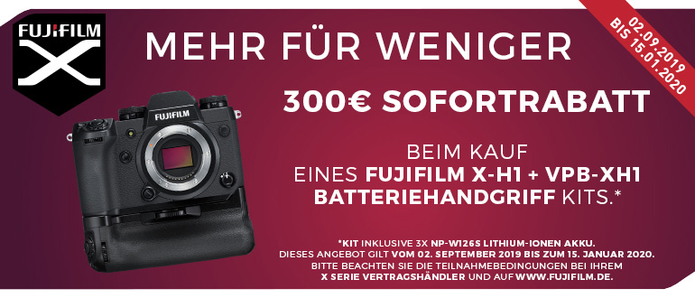 Fujifilm X-H1 Sofortrabatt