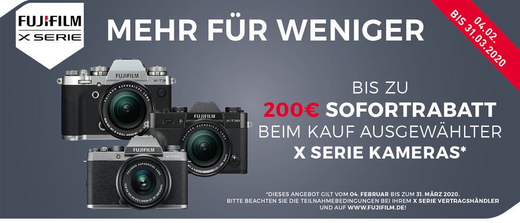 Fujifilm X-Serie Sofortrabatt Aktion