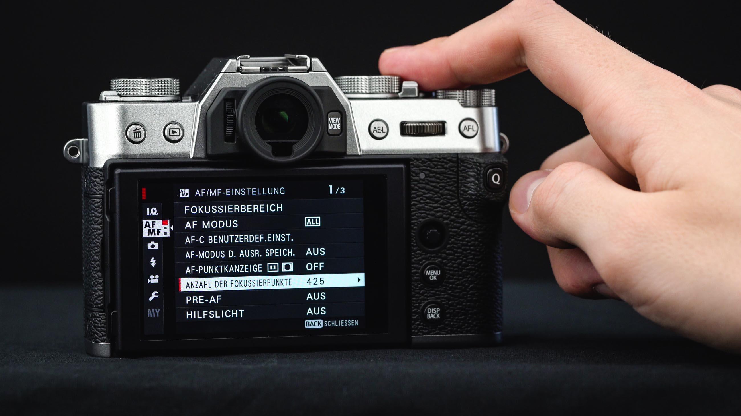 FujifilmX-T30 Af Einstellungen im Menü