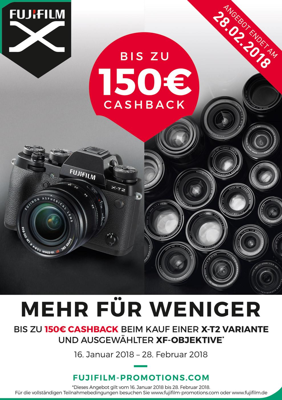 Fujifilm X-T2 Cashback