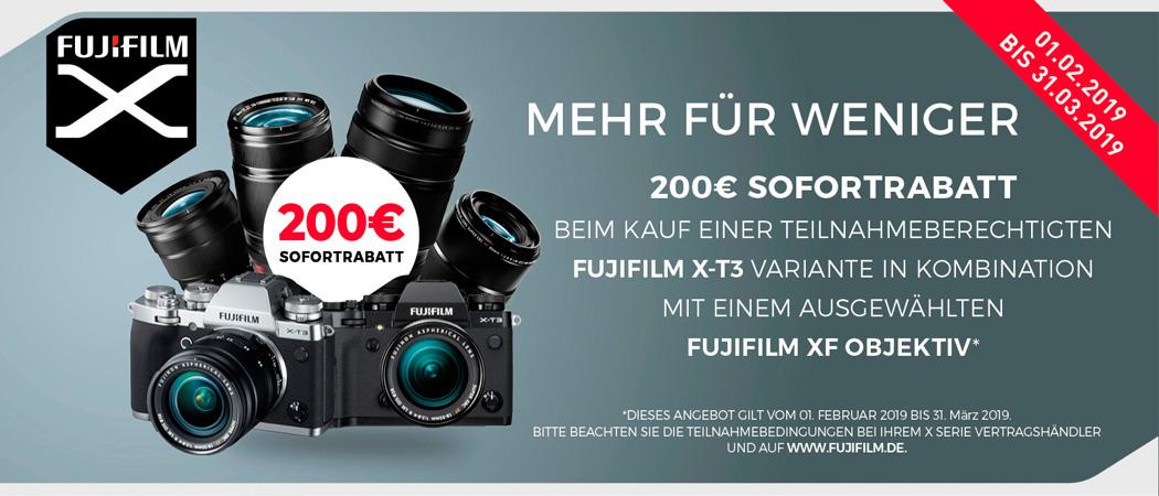 Fujifilm X-T3 Sofortrabatt Aktion