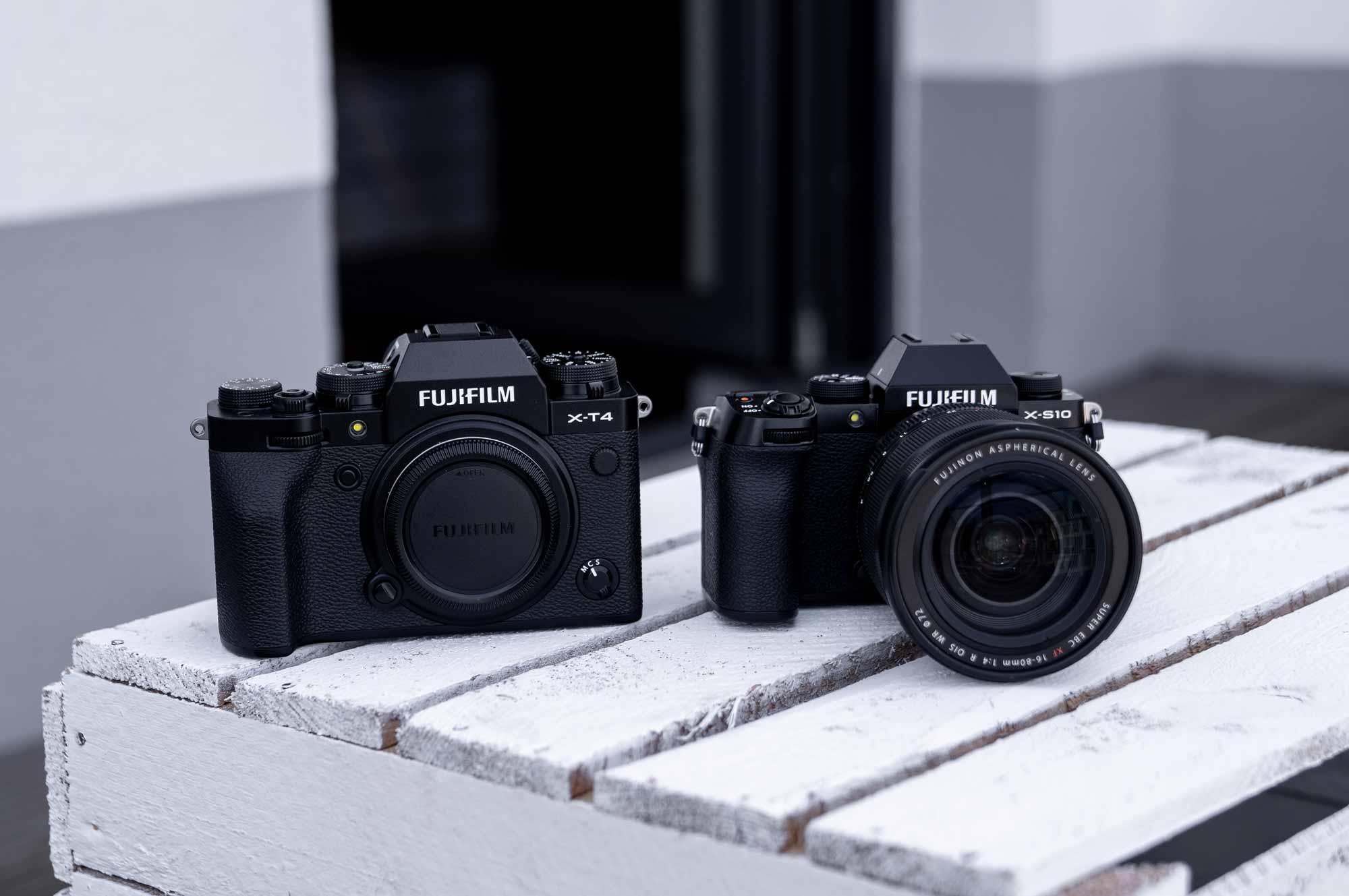 Fujifilm X-S10 und X-T4