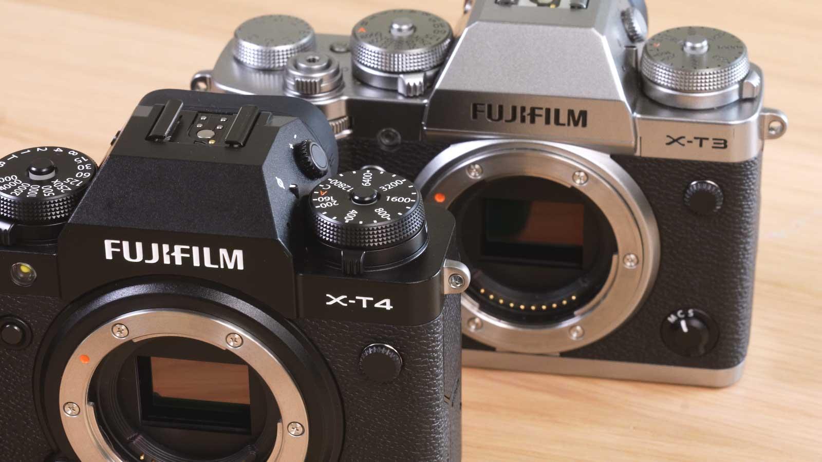 Fujifilm X-T4 vs X-T3 Gehäuse