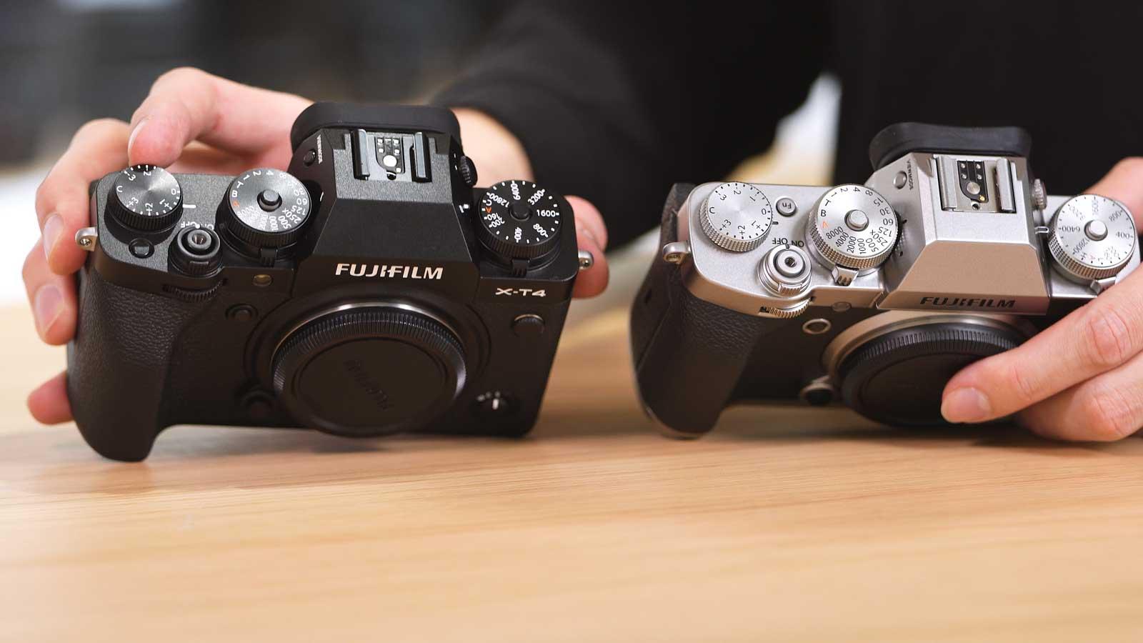 Fujifilm X-T4 vs X-T3 Gehäuse von oben