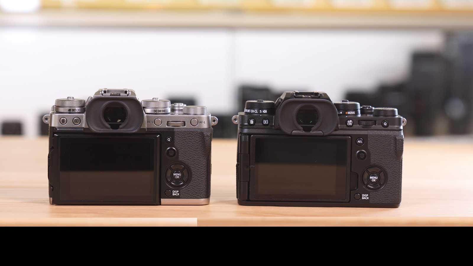 Fujifilm X-T4 vs X-T3 Display-Vergleich