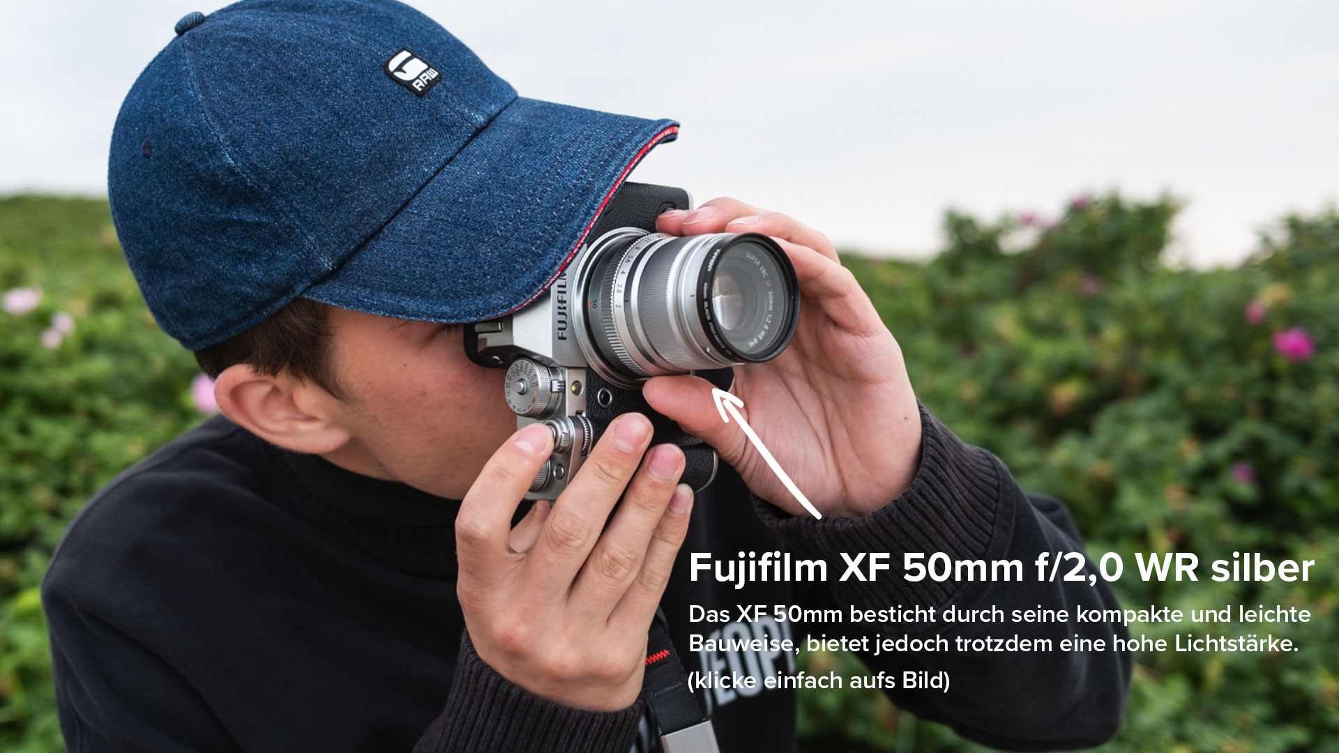 Fujifilm XF 50mm f/2,0 R WR silber