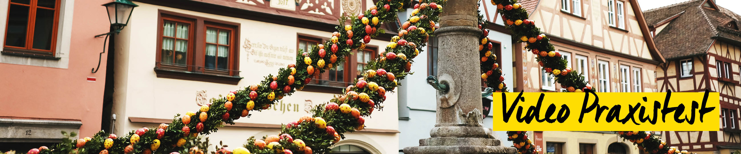 Osterbrunnen in Rothenburg ob der Tauber Fotowalk