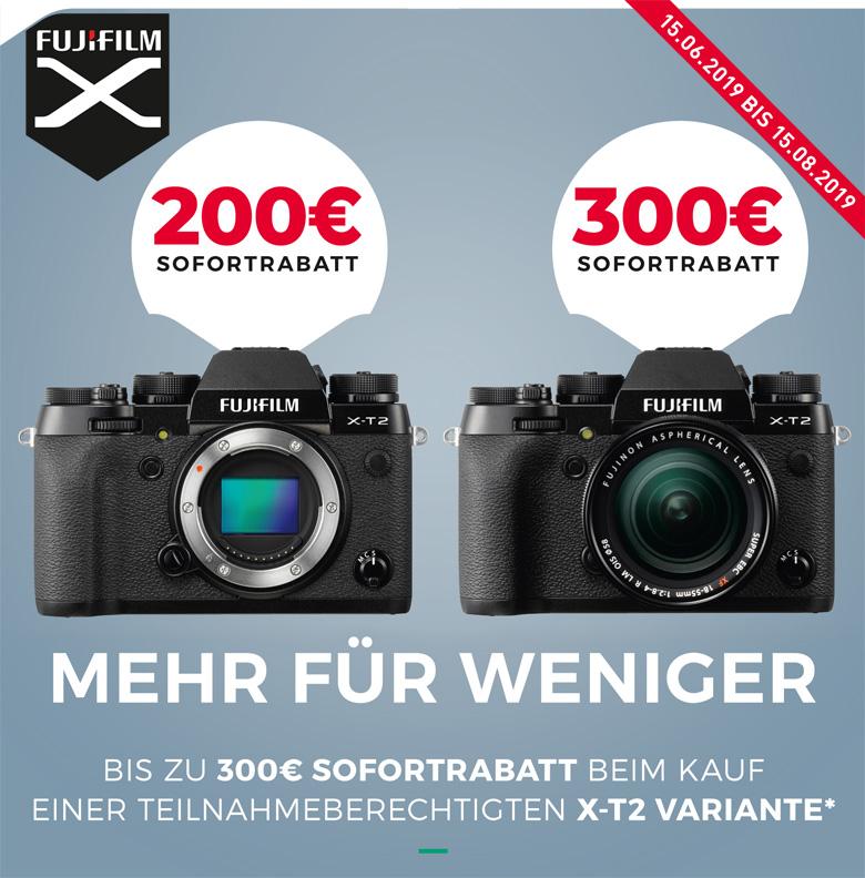 Fujifilm X-T2 Sofortrabatt Aktion
