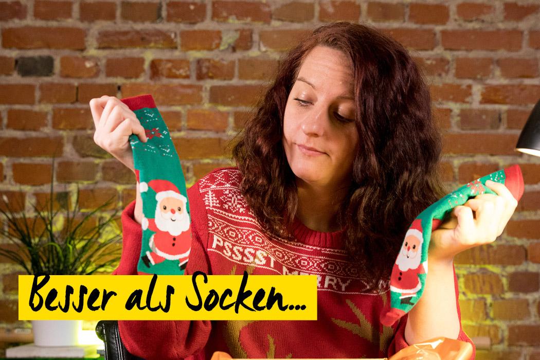 Frau mit Socken