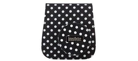 instax Mini 8 design dottered Soft Case schwarz - weiß