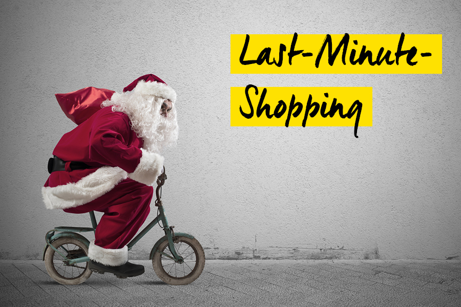 Last Minute Shopping Weihnachten