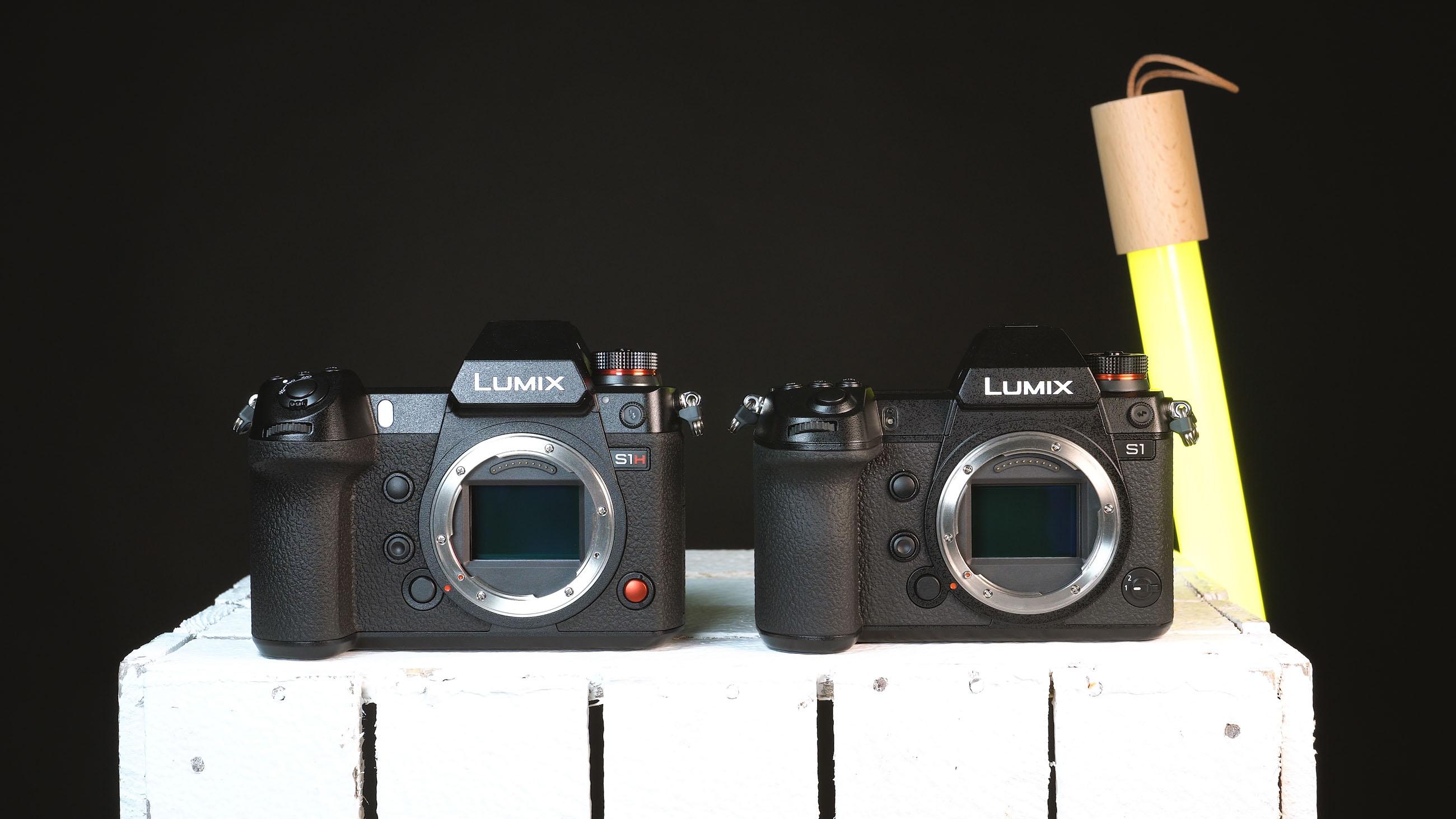 Lumix S1H und S1 von vorne