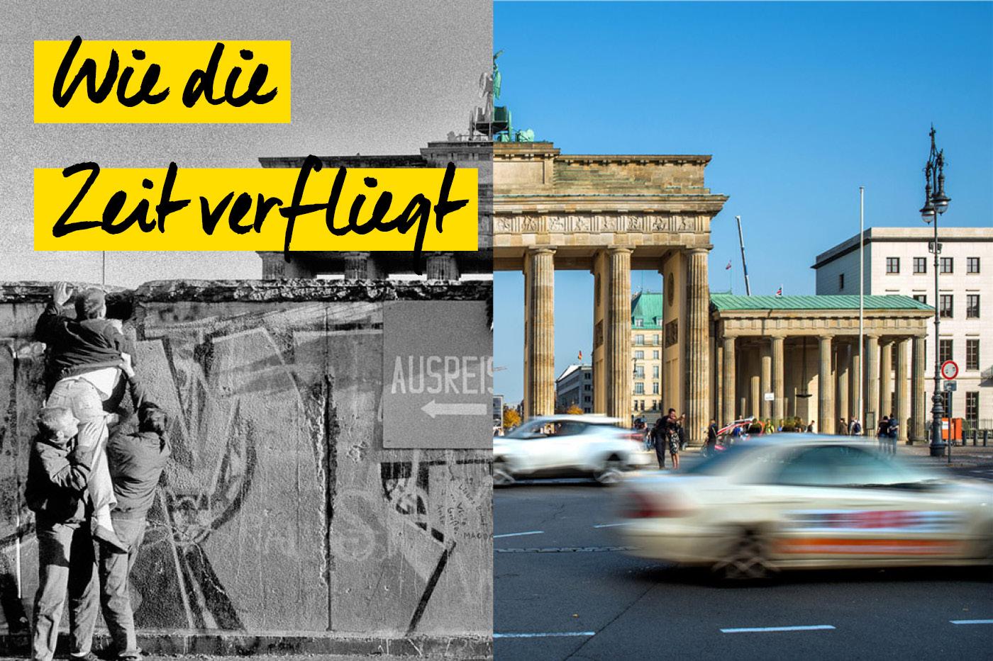 Berlin vor und nach dem Mauerfall