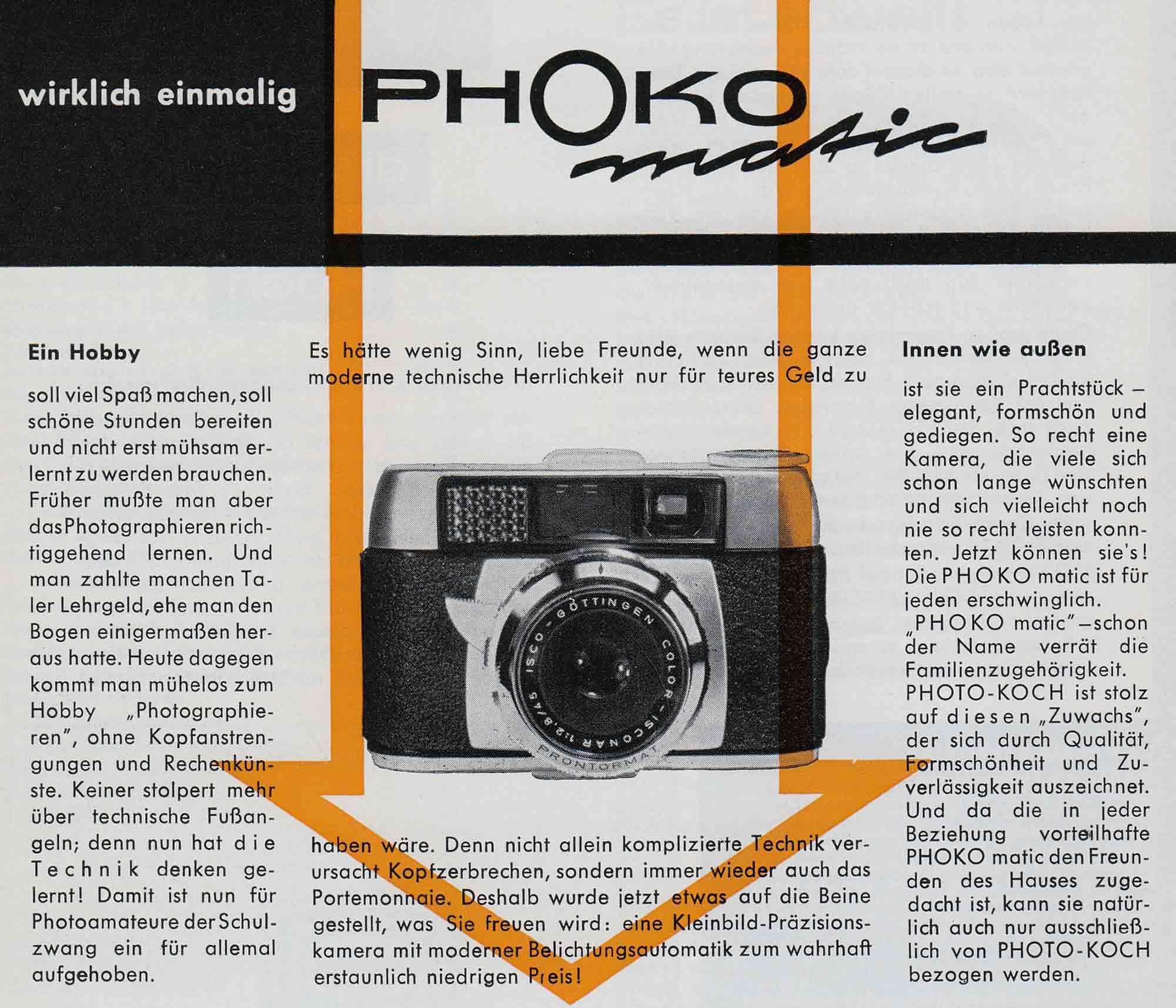 Werbeanzeige - Photo Koch