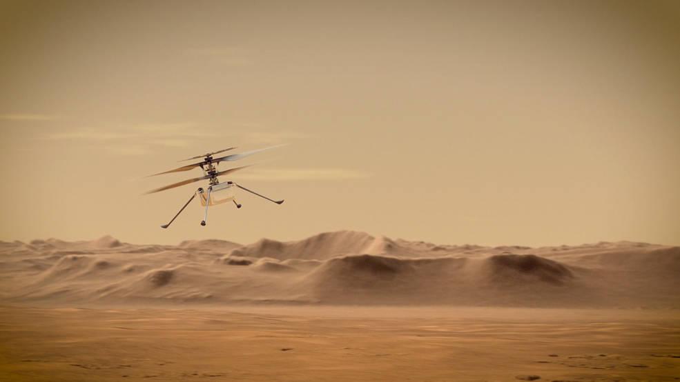 Erste Drohne Mars