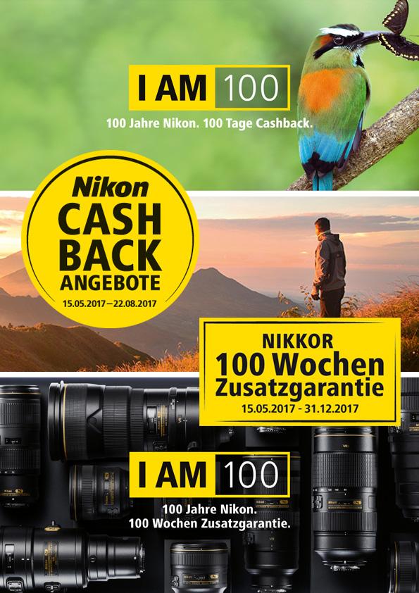 Nikon 100 Jahre Cashback und Garantie