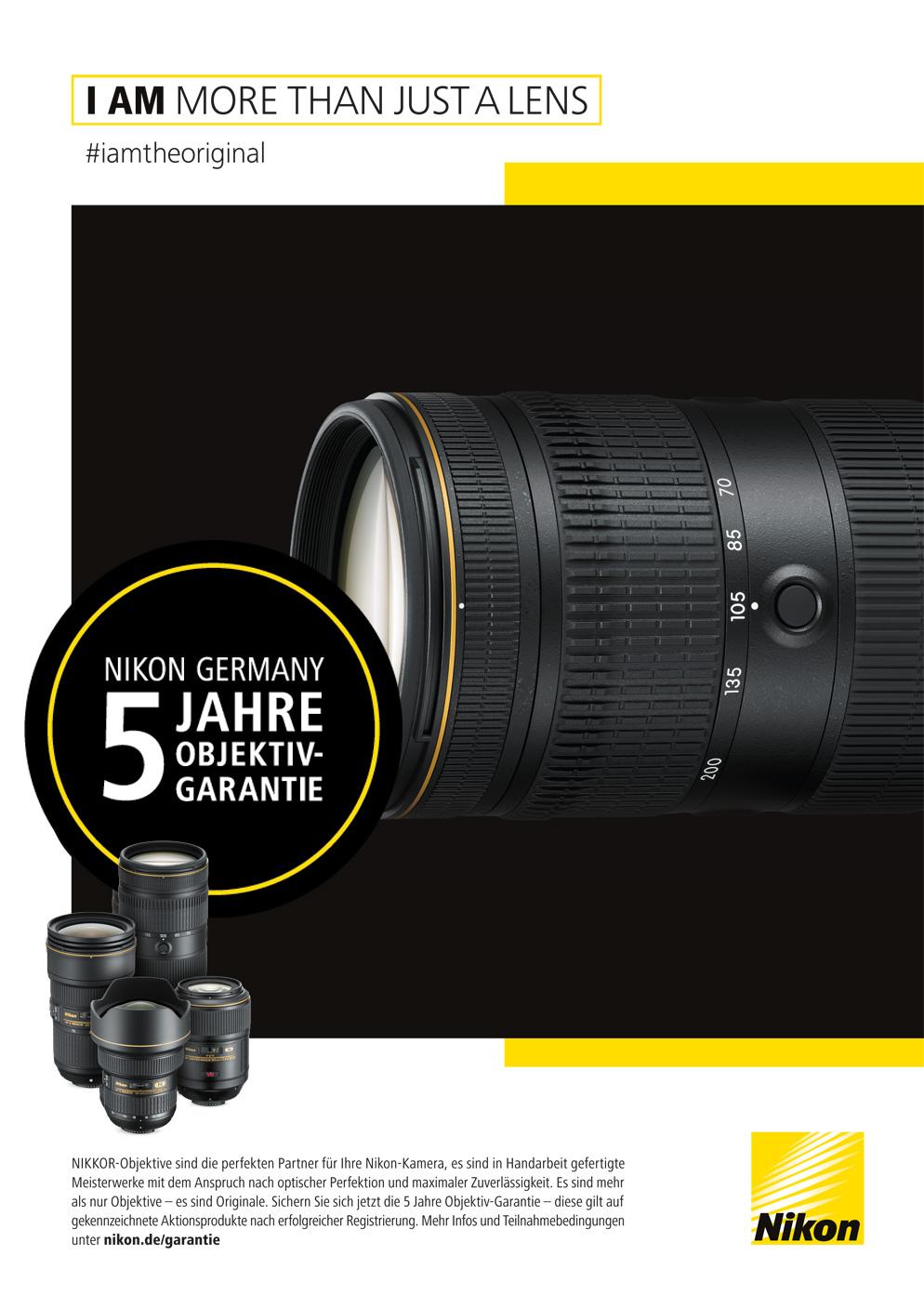 Nikon Objektiv-Garantie