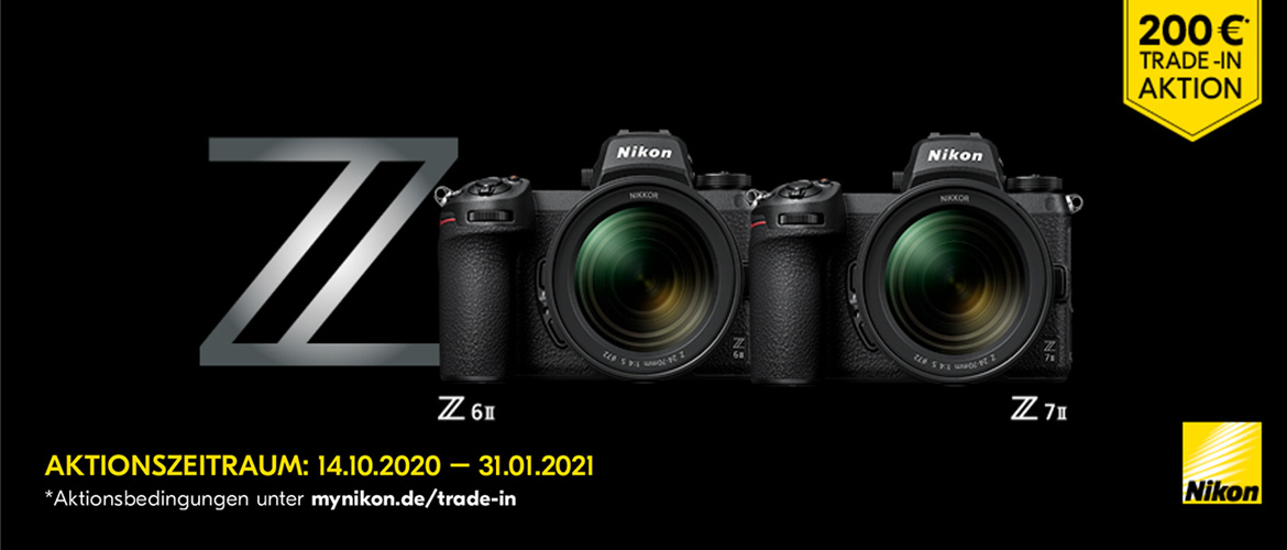 Nikon Z7 II + Z6 II Trade-in Aktion