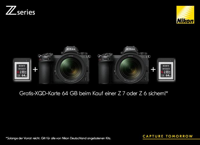 Nikon Z Speicherkarten-Aktion