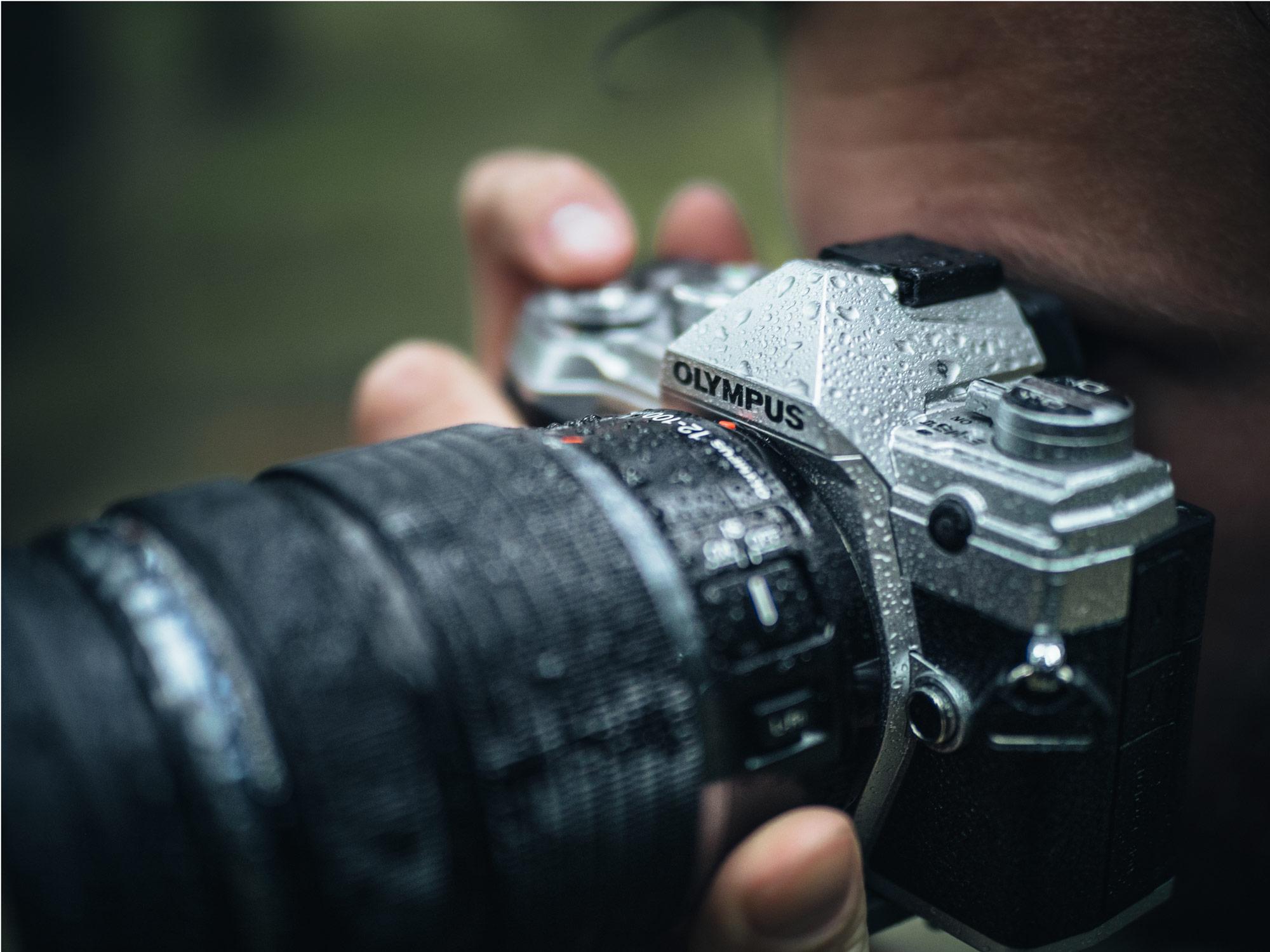 Kamera im Regen