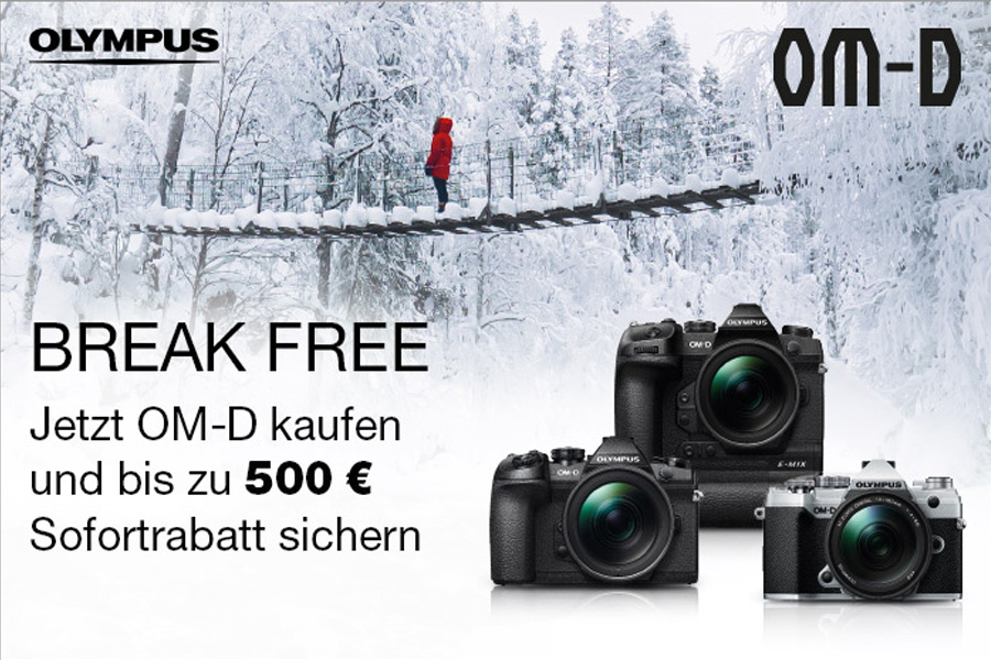 Olympus Winterpromotion BREAK FREE