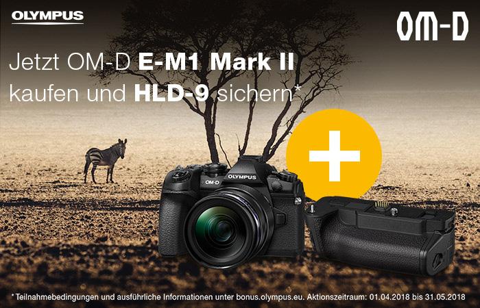Olympus OM-D E-M1 Mark II Batteriegriff Aktion