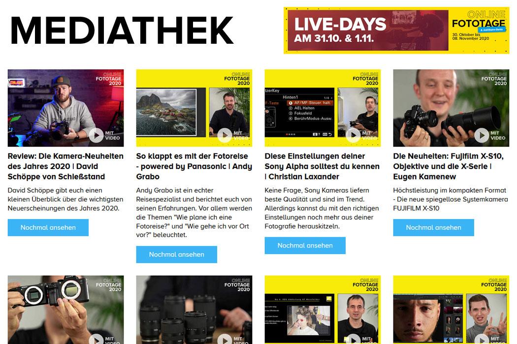 Live Days Mediathek