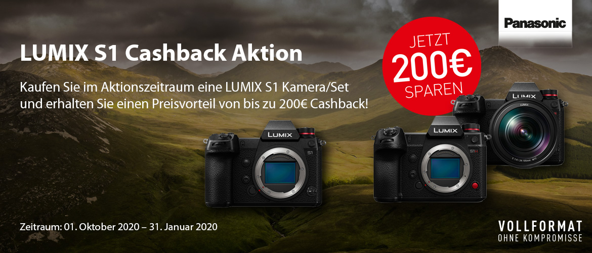 Panasonic S1 Cashback Aktion