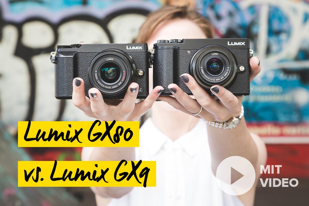 Panasonic Lumix GX80 und G9X Unterschied