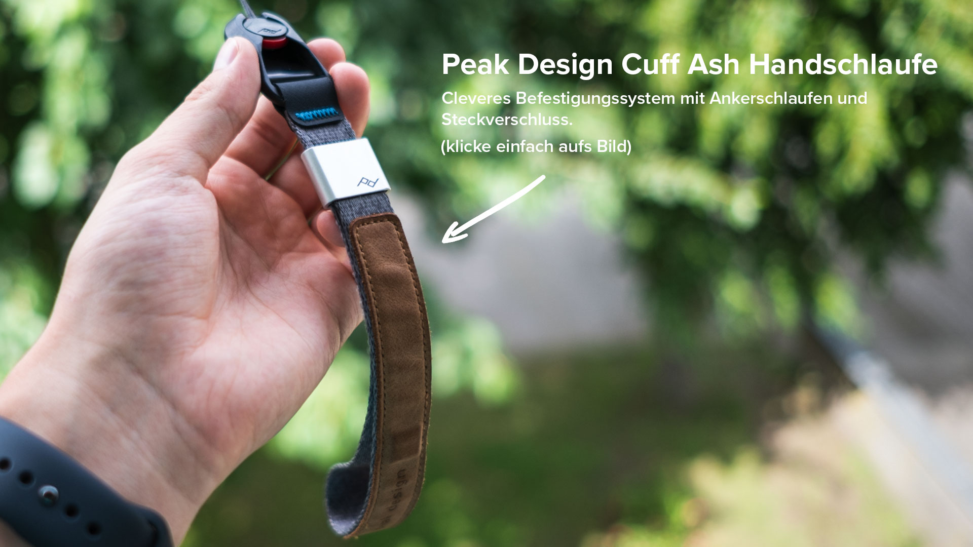 Peak Design Cuff Ash Handschlaufe