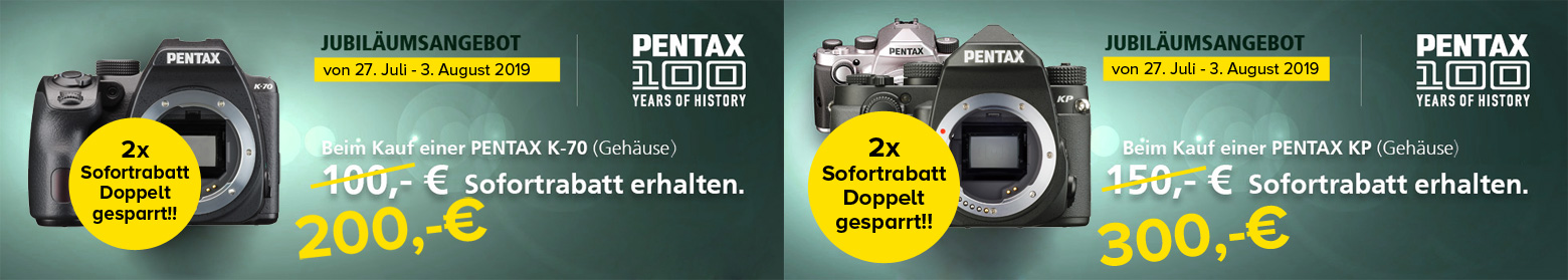 Pentax Doppelt-Sofortrabatt Aktion